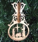 Manger Christmas Ornament 3D Wood Christmas Ornaments