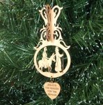 Mary and Joseph Ornament 3D Wood Christmas Ornaments