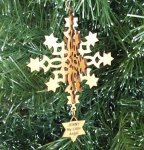 Snowflake Christmas Ornament 3 3D Wood Christmas Ornaments