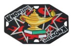 Lamp of Knowledge Street Tags Academic Medals