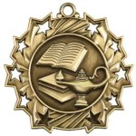 Ten Star Lamp of Knowledge Medal Academic Medals
