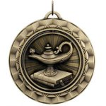 Spinner Medal - Lamp Of Knowledge Academic Medals
