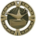 Celebration Medal - Lamp Of Knowledge Academic Medals
