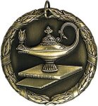 Wreath Medal - Lamp Of Knowledge Academic Medals