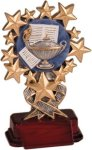 Lamp of Learning - Starburst Resin Trophy Academics