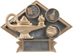 Education - Diamond Plate Resin Trophy Academics