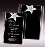 Gold Star Acrylic Awards Acrylic Awards with Background Design