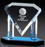 Diamond Acrylic Plaque Acrylic Awards with Stand
