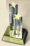 Star Acrylic Award Double Tower Acrylic Trophies