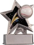 Baseball - Silver Star Motion Resin Series Baseball Trophies