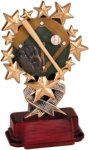 Baseball - Starburst Resin Trophy Baseball Trophies