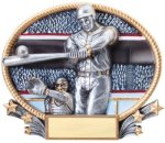 Baseball 3D Oval Trophy Baseball
