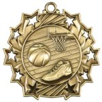 Ten Star Basketball Medal Basketball Medals