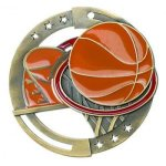 Color Star Medal - Basketball Basketball Medals