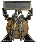 Lightning Bolts Basketball Award (Female) Basketball Trophies