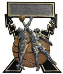 Lightning Bolts Basketball Award (Male) Basketball Trophies