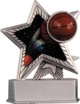 Basketball - Silver Star Motion Resin Series Basketball Trophies