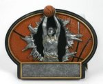 Burst Thru Basketball Trophy (Female) Basketball