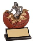 Female Basketball Explosion Resin Trophy Basketball