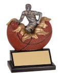 Male Basketball Explosion Resin Trophy Basketball