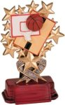 Basketball - Starburst Resin Trophy Basketball