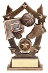 Stars Basketball Trophy Basketball