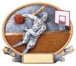 Basketball 3D Oval Trophy (Male) Basketball