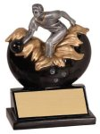 Male Bowling Explosion Resin Trophy Bowling Trophies