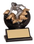 Female Bowling Explosion Resin Trophy Bowling Trophies
