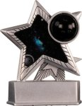Bowling - Silver Star Motion Resin Trophy Bowling Trophies