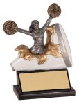 Female Cheerleading Explosion Resin Trophy Cheerleader