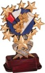 Cheerleading - Starburst Resin Trophy Cheerleader