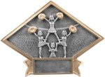 Cheerleading - Diamond Plate Resin Trophy Cheerleader