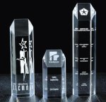 Hexagon Tower Acrylic Award Clear Acrylic Awards