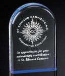 Reflective Arched Acrylic Award Clear Acrylic Awards