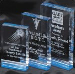 Horizon Acrylic Award Blue Clear Acrylic Awards