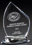 Acrylic Award on Metallic Base Clear Acrylic Awards