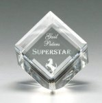 Corporate Crystal Cube Clear Optical Crystal Awards