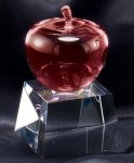 Crystal Apple Award Clear Optical Crystal Awards