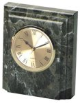 Jade Marble Desk Clock Clocks - Desk