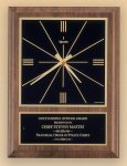 American Walnut Vertical Wall Clock with Square Face. Clocks - Wall