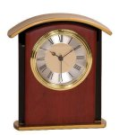 Mahogany Finish Gold Top Clock Award Economy clocks