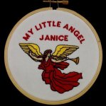 Angel Christmas Ornament 3 Embroidered Christmas Ornaments
