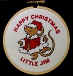 Mouse Christmas Ornament Embroidered Christmas Ornaments