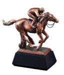 Horse With Jockey Equestrian Trophies