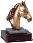 Bronze Finish Horse Head Award Equestrian Trophies
