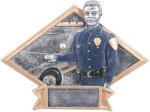 Police Officer - Diamond Plate Resin Trophy Fire and Safety Awards