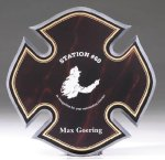 Maltese Cross Acrylic Plaque Fire and Safety Awards