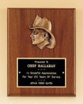 Fireman Award with Antique Bronze Finish Casting. Fireman Plaques and Police Plaques