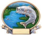 Fishing 3D Oval Trophy Fishing
